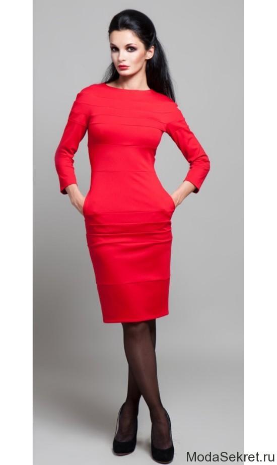 Повседневные красное платья