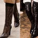 четыре варианта модной обуви на фото