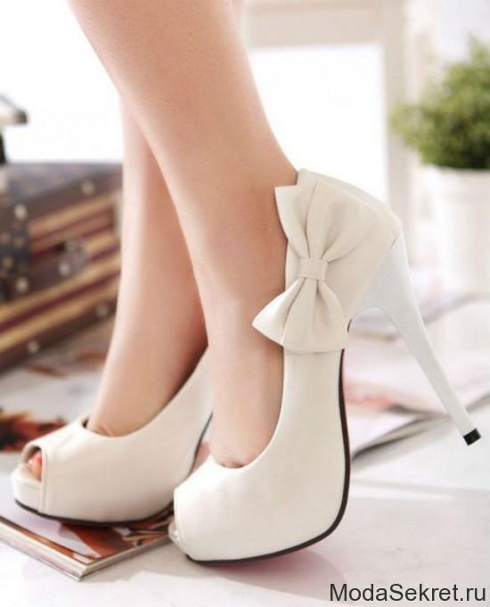 Белые женские туфли 41 42