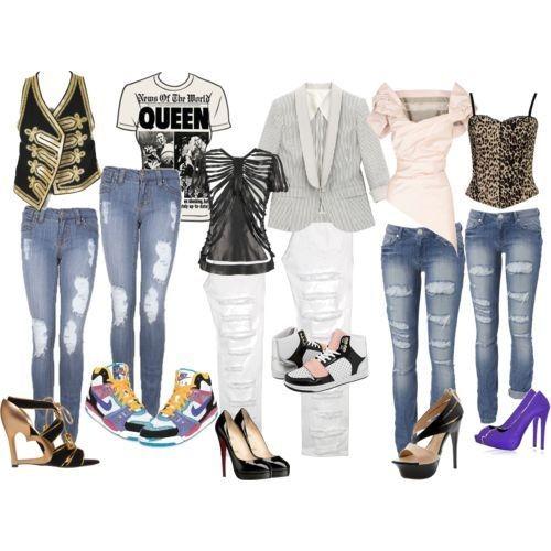 Рваные джинсы с чем носит