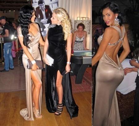 Фото телок в облегающих коротких платьях