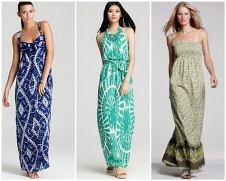 Фасон длинного летнего платья