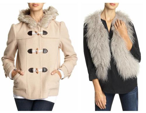 Пальто и шубки из искусственного меха