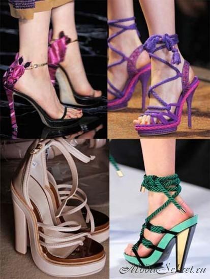 Мода на обувь весна-лето