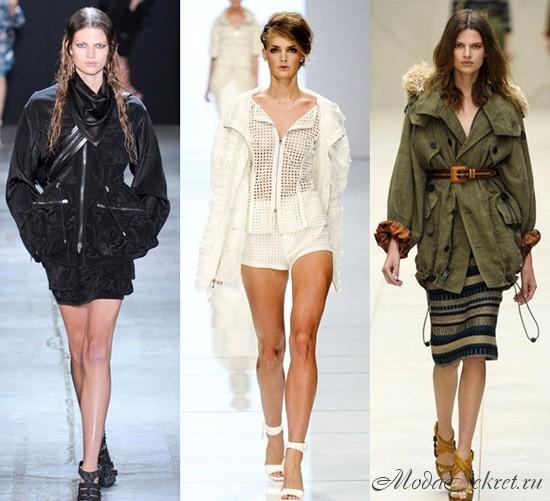 Какие куртки модные весной