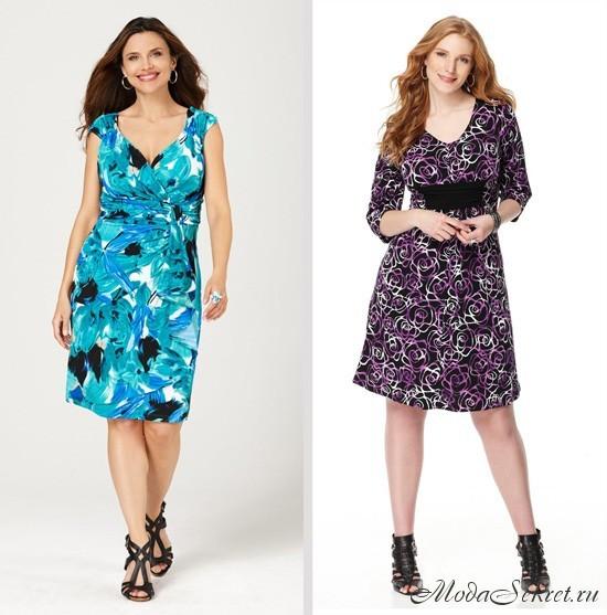 Модные летние платья для полных (фото)