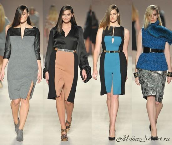 Модные платья для полных осень-зима 2012-2013