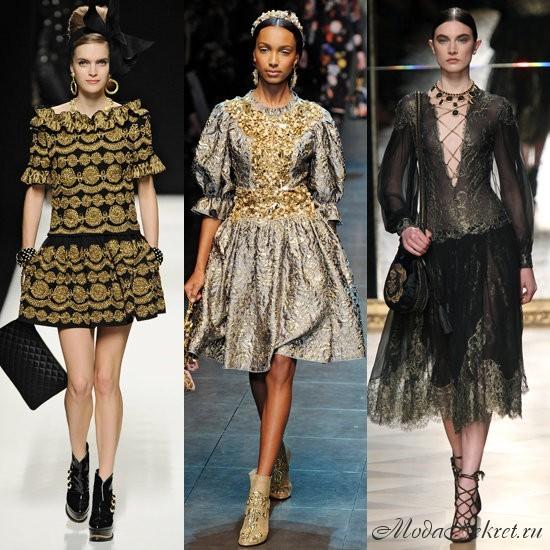 Слева направо: Moschino, Dolce & Gabbana, Pucci