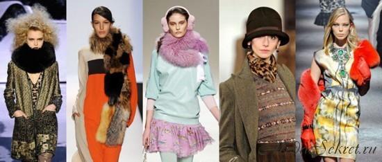 Модные шарфы осень зима