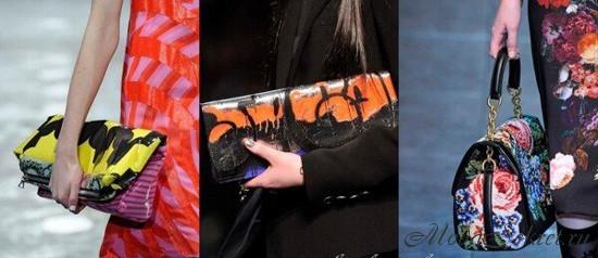 Фото модных сумок от  Луиза Грей, Gaultier, D & G