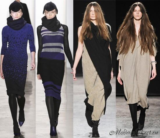 вязаные платья -