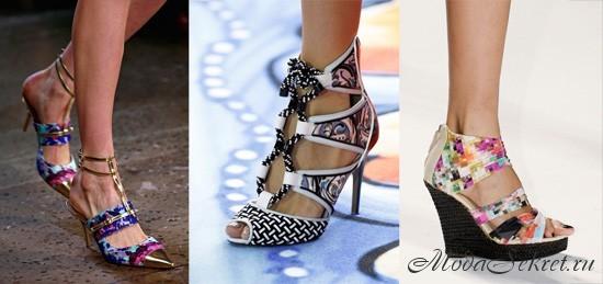 какая обувь в моде летом этого года