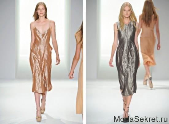 летние платья с металлическим блеском