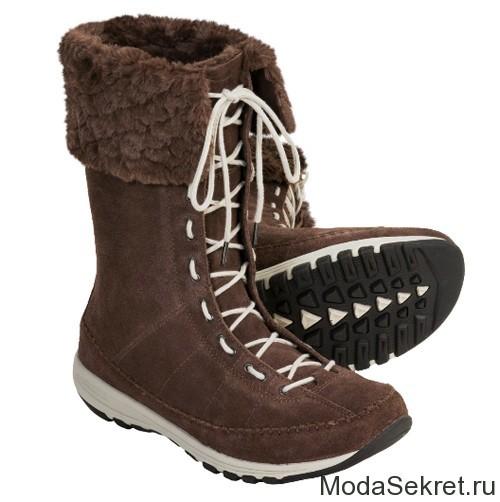 зимние ботинки со шнуровкой