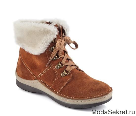 зимние ботинки с опушкой для женщин