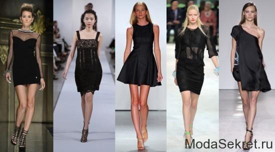 пять моделей вышагивают по подиуму