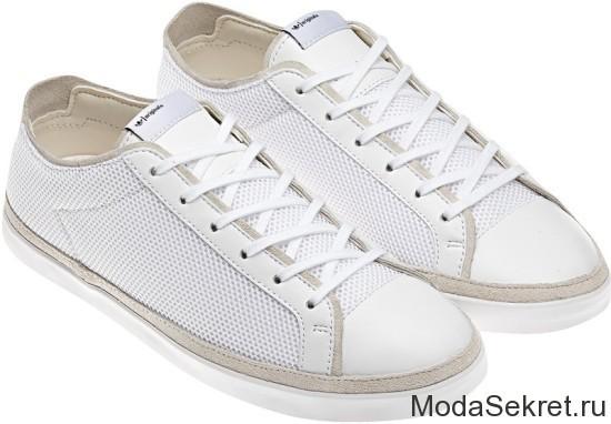 модные женские кеды в белом исполнении