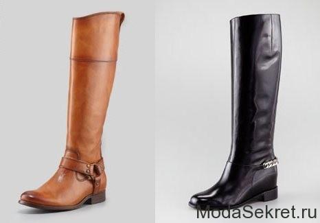 черный и коричневый зимний женский сапог