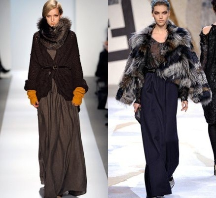модели в длинных зимних юбках