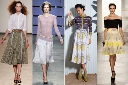 Что советуют стилисты для юбок миди