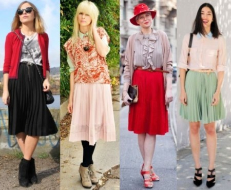 Триумфальное возвращение юбки миди