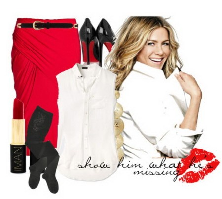 С чем еще надеть красную юбку?