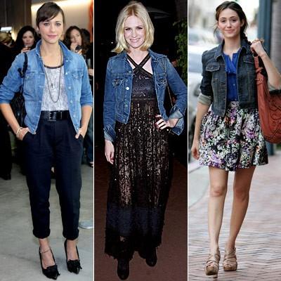 Как при помощи рубашки из джинсы создать различные стили?