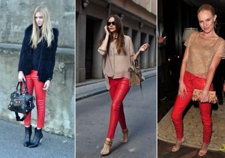 Как правильно подобрать пару для красных брюк