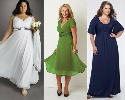 Летнее платье для полной женщины