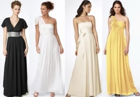 Атласное платье в греческом стиле