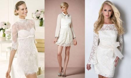 Короткий рукав в свадебном платье