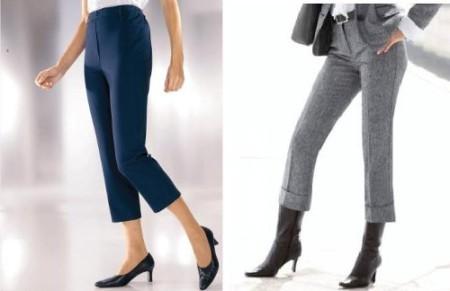С чем комбинировать джинсовые брюки