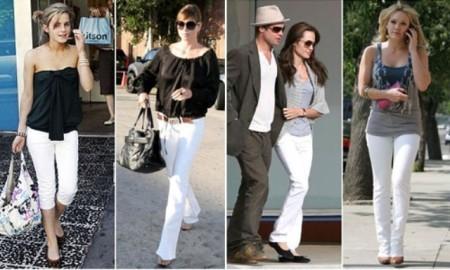 С чем надеть белые джинсы?