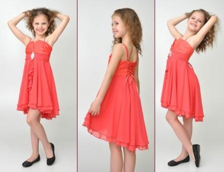 Детское шифоновое летнее платье