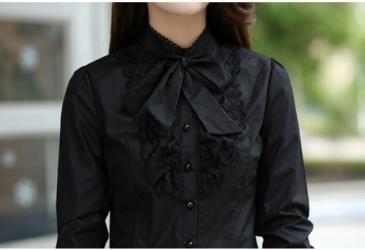 Черная рубашка для девушки
