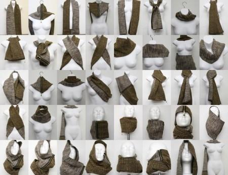 Маленький шарф варианты применения