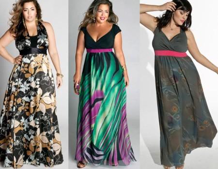 Длинные красивые и стильные вечерние наряды больших размеров
