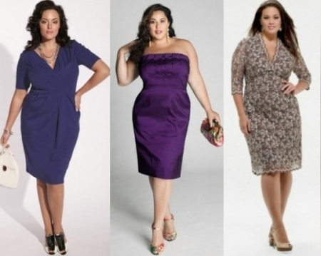 Стильное и модное вечернее платье для пышки