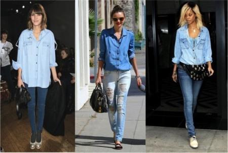 Куда, как и с чем стоит надеть джинсовую рубашку?