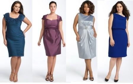 Короткие вечерние платья на полную фигуру