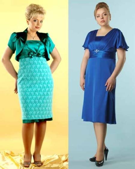 Платья с завышенной талией для полных женщин
