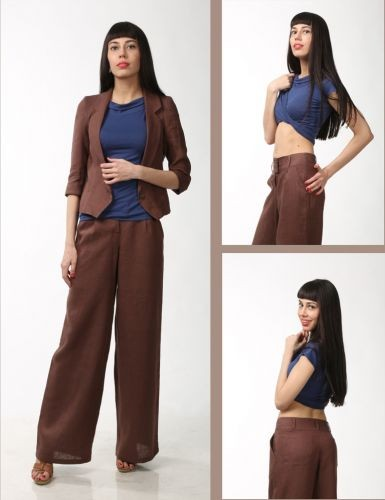 Коричневые брюки,