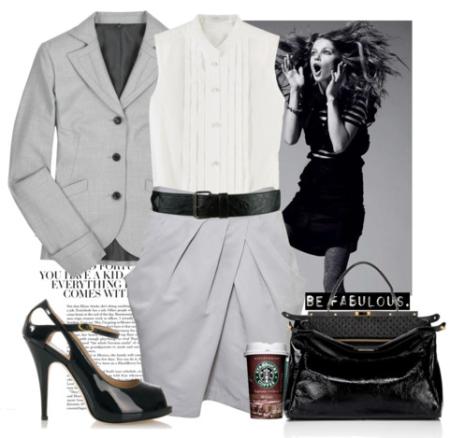 Серый пиджак для офиса