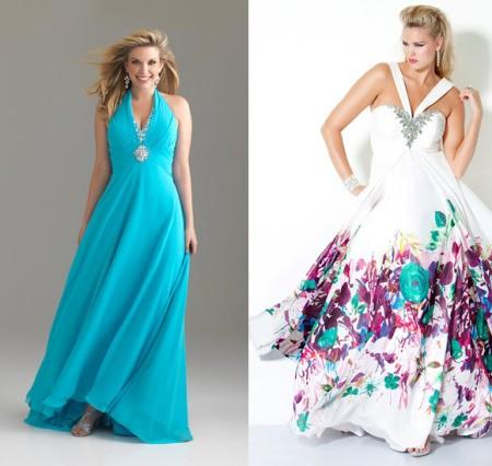 Длинные платья для полных дам