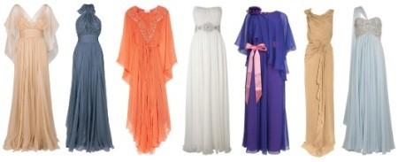 Фасоны платьев из шифона
