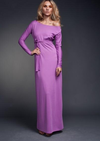 Длинные платья с рукавом