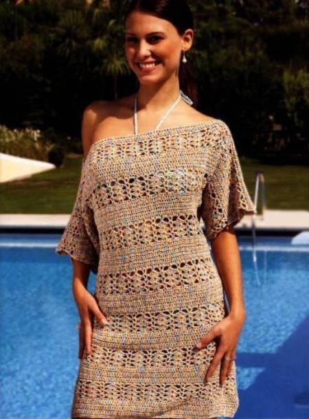Красивые летние платья из хлопковой пряжи