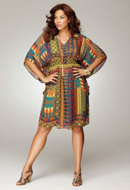 Платье-туника для полных