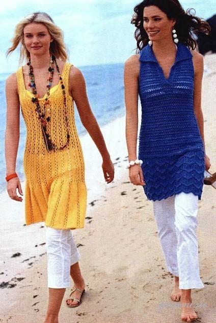 Модные фасоны вязаных платьев