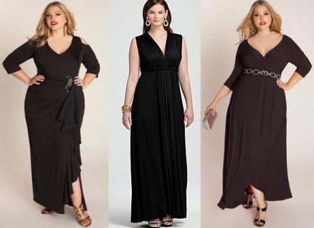 Черные макси модели для полных женщин